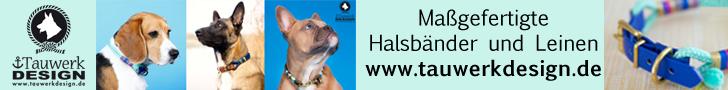 Wunderschöne Halsbänder für Hunde bei tauwerkdesign.de