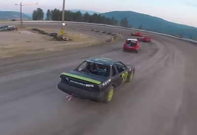 Drohne vs Stock Car