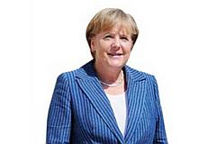Merkel Pappaufsteller
