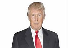 Trump Pappaufsteller