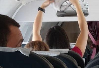 Slip im Flugzeug trocknen