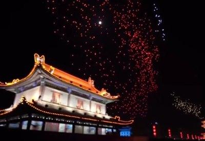 1300 Drohnen erhellen die Nacht in Xi'an