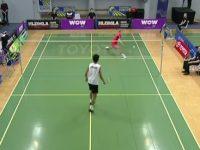 Unglaublicher Schlag beim Badminton