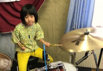 Led Zeppelin Drum Cover einer 8jährigen