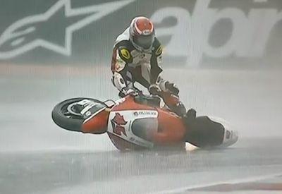 Tetsuta Nagashima surft beim MotoGP