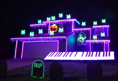 Michael Jackson Halloween Light Show 2018