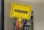 Schild: Fresse