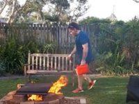 Unsachgemäßer Umgang mit Brandbeschleuniger