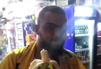 Schnell mal eine Banane inhalieren