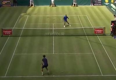 Neulich beim Tennisturnier in Halle