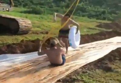 Gefährliche Rutschpartie
