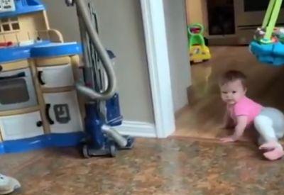 Kurz mal die Katze erschrecken