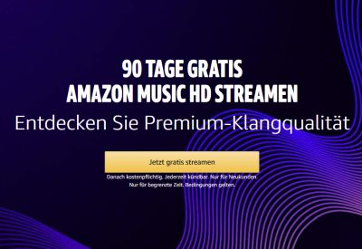 90 Tage gratis Amazon Music HD streamen