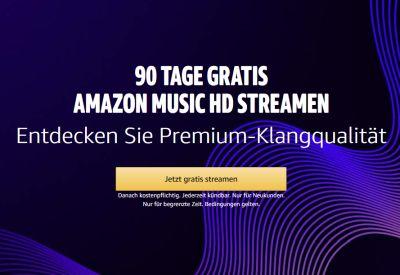 90 Tage gratis Amazon Music HD streamen
