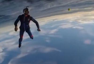 Den Ball zuwerfen - in luftiger Höhe