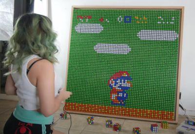 Super Mario Rubik's Cube Stop Motion