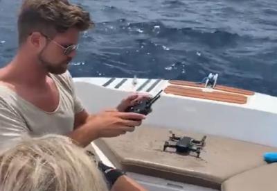 Spaß mit der neuen Drohne