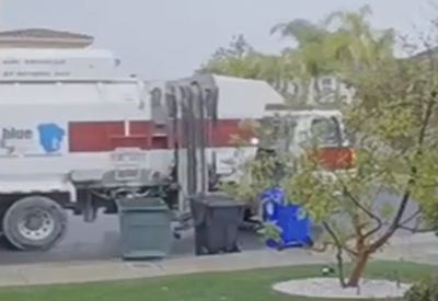 Wenn der Müllwagen völlig eskaliert...
